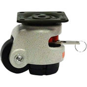 WMI ® Built-In Rotation Handle Leveling Caster WMIWR-50PF - 275 Lb. Capacity - Plate Mounted