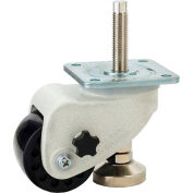WMI® Caster and Leveler in One Unit WMLC-1000FSB - 1100 Lb. Capacity - Plate Mounted