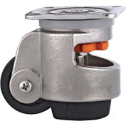WMI® Stainless Steel Leveling Caster WMS-100F - 990 Lb. Capacity - Plate Mounted