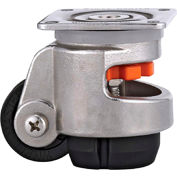 WMI® Stainless Steel Leveling Caster WMS-60F - 550 Lb. Capacity - Plate Mounted