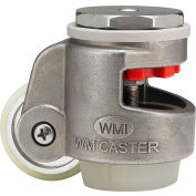 WMI® Stainless Steel Leveling Caster WMSPIN-80SUD 880 Lb. Capacity - Swivel Stem Mount