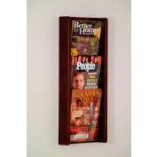 3 Pocket (3H) Acrylic & Oak Wall Display - Mahogany