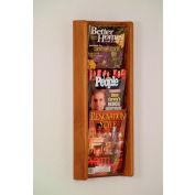 3 Pocket (3H) Acrylic & Oak Wall Display - Medium Oak