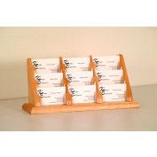 9 Pocket Counter Top Business Card Holder - Light Oak