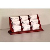 9 Pocket Counter Top Business Card Holder - Mahogany