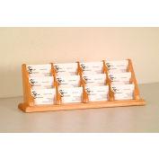 12 Pocket Counter Top Business Card Holder - Light Oak