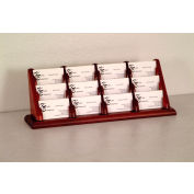 12 Pocket Counter Top Business Card Holder - Mahogany