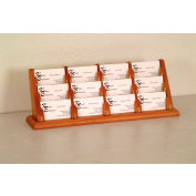 12 Pocket Counter Top Business Card Holder - Medium Oak