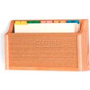 Wooden Mallet Single Square Bottom Legal Size File Holder, Light Oak