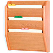 Wooden Mallet 3 Pocket Legal Size File Holder, Light Oak