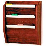 Wooden Mallet 3 Pocket Legal Size File Holder, Mahogany