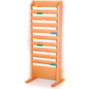 Wooden Mallet Free-Standing 10 Pocket Legal Size File Holder, Light Oak