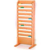 Wooden Mallet Free-Standing 10 Pocket Legal Size File Holder, Light Oak