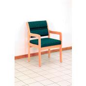 Guest Chair w/ Arms - Light Oak/Cream Vinyl