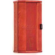 Wooden Mallet Fire Extinguisher Cabinet, 5 lb Cap, Mahogany, FEC10MH