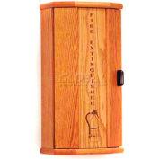 Wooden Mallet Fire Extinguisher Cabinet, 5 lb Cap, Medium Oak, FEC10MO