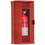 Wooden Mallet Fire Extinguisher Cabinet, 5 lb, with Panel, Mahogany, FEC10MH