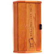Wooden Mallet Fire Extinguisher Cabinet, 10 lb Cap, Medium Oak, FEC20MO