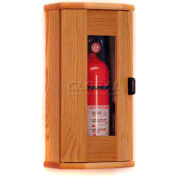 Wooden Mallet Fire Extinguisher Cabinet, 10 lb, with Panel, Light Oak, FEC21LO