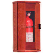 Wooden Mallet Fire Extinguisher Cabinet, 10 lb, with Panel, Mahogany, FEC21MH