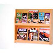 6 Magazine/12 Brochure Wall Display - Light Oak