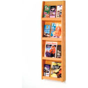 4 Magazine/12 Brochure Wall Display - Light Oak