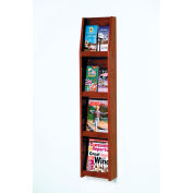 4 Magazine/8 Brochure Wall Display - Mahogany