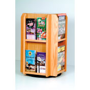 Countertop 8 Pocket Rotary Literature Display - Light Oak