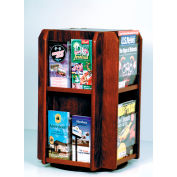 Countertop 8 Pocket Rotary Literature Display - Mahogany