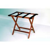 Luggage Rack w/ Straight Legs - Mahogany/Tan