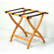 Luggage Rack w/ Convex Legs - Light Oak/Tan