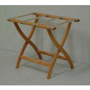 Luggage Rack w/ Convex Legs - Light Oak/Tapestry