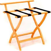 Wooden Mallet WallSaver™ Luggage Rack with Black Webbing, Light Oak