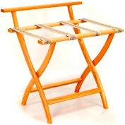 Wooden Mallet WallSaver™ Luggage Rack with Tapestry Webbing, Light Oak