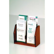 Countertop 4 Pocket Brochure Display - Mahogany