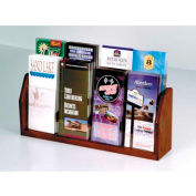 Countertop 8 Pocket Brochure Display - Mahogany
