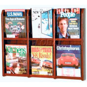 Wooden Mallet Divulge™ 6 Magazine Wall Display, Mahogany