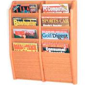 Wooden Mallet Cascade™ 8 Pocket Magazine Rack, Light Oak