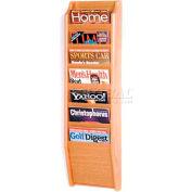 Wooden Mallet Cascade™ 7 Pocket Magazine Rack, Light Oak
