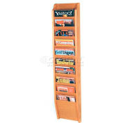Wooden Mallet Cascade™ 10 Pocket Magazine Rack, Light Oak