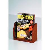 Countertop Single Pocket Magazine Display - Mahogany