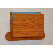 HIPAA Compliant Oak Open Ended Chart Holder - Medium Oak