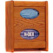 Wooden Mallet 2 Pocket Glove/Tissue Box Holder, Medium Oak