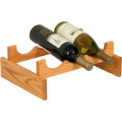 "3 Bottle Dakota™ Wine Rack, Light Oak, 5-1/4""H"