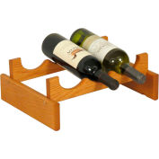 "3 Bottle Dakota™ Wine Rack, Medium Oak, 5-1/4""H"