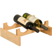 "3 Bottle Dakota™ Wine Rack, Unfinished, 5-1/4""H"