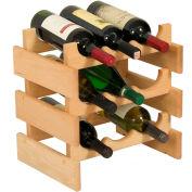 """9 Bottle Dakota™ Wine Rack, Unfinished, 14-1/2""""H"""