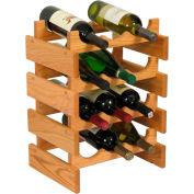 "12 Bottle Dakota™ Wine Rack, Light Oak, 19-1/8""H"