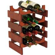 "12 Bottle Dakota™ Wine Rack, Mahogany, 19-1/8""H"