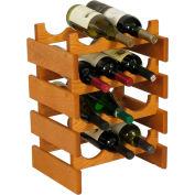 "12 Bottle Dakota™ Wine Rack, Medium Oak, 19-1/8""H"